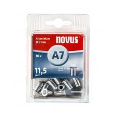 NOVUS BLINDKLINKMOER M5 X 11,5MM, ALU S, 10 ST.