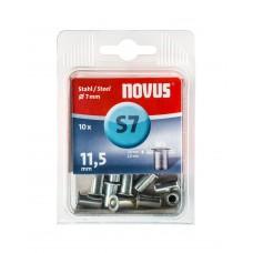 NOVUS BLINDKLINKMOER M5 X 11,5MM, STAAL, 10 ST.