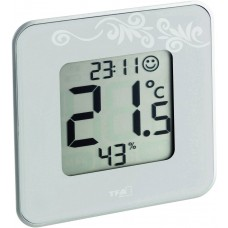 "DIG. THERMO-HYGROMETER ""STYLE"" TAUPE"