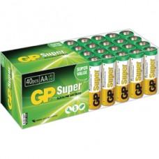 GP SUPER ALKALINE AA LR06, MULTIPACK 40 BOX: 40X AA