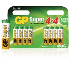 MULTIPACK GP SUPER ALKALINE AA 8 STUKS