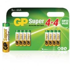 MULTIPACK GP SUPER ALKALINE AAA 8 STUKS