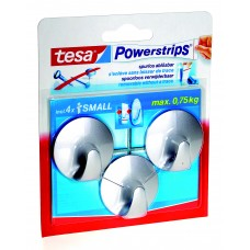 TESA POWERSTRIPS SMALL ROND CHROOM 0 0 TRANSPARANT