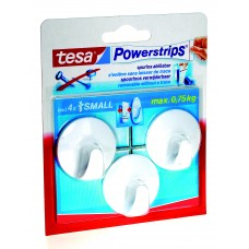 TESA POWERSTRIPS SMALL ROND WIT 0 0 TRANSPARANT