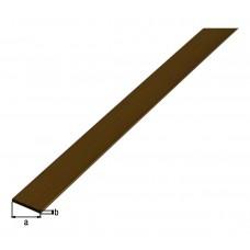 PLATTE STANG,MESSING,20X2/1M