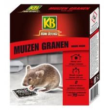 KB MUIZEN GRANEN (ZWART) MET LOKSTATION 2 STUKS OMDOOS