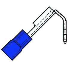 GEISOLEERDE VLAKSTEKERHULS+TAB 6,3X0,8MM VOOR 1,5-2,5 MM², PVC SP 2507