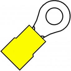 GEISOLEERDE RINGKABELSCHOEN M10 VOOR 4,0-6,0 MM²,PVC A 4610 R