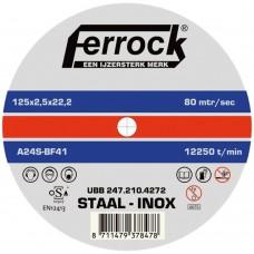 DOORSLIJP METAAL FERR 125X2.5