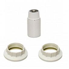 LAMPHOUDER E14 MET 2 RING WIT