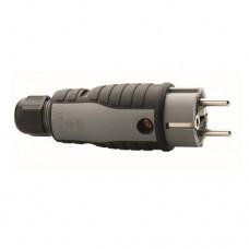 ABL STEKKER RA IP54 GR/ZW WARTEL