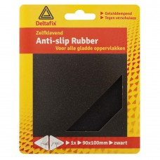 ANTI-SLIPRUBBER ZWART 90X100MM 1 VEL