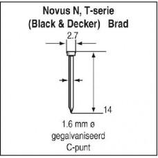 NOVUS NAGELS (SPIJKER) T N/14MM, SB, 1000 ST.