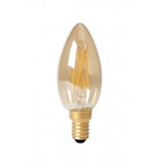 CALEX LED VOLGLAS FILAMENT KAARSLAMP 220-240V 3,5W 200LM E14 B35, GOUD