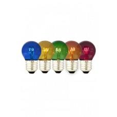 CALEX PARTY BALL LAMP TRAY 15W 240V E27 5 COLOURS