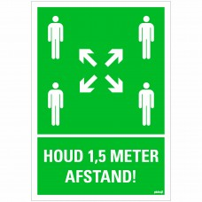BORD HOUD AFSTAND VERZAMELPLAATS 230X330 MM
