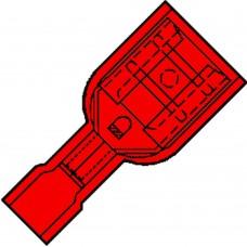 VOL.GEISOL. VLAKSTEKERHULS 6,3X0,8MM VOOR 0,5-1,5MM², PVC IS 1507 FL .