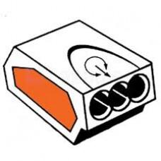 INSTEEKLASKLEM 0,75-2,5 MM² 24A 3 POLIG IN DE KLEUR TRANSPAR LK2,5-3V-