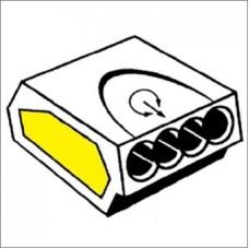 INSTEEKLASKLEM 0,75-2,5 MM² 24A 4 POLIG IN DE KLEUR TRANSPAR LK2,5-4V-
