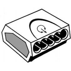 INSTEEKLASKLEM 0,75-2,5 MM² 24A 5 POLIG IN DE KLEUR TRANSPAR LK2,5-5V-
