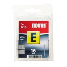 NOVUS, NAGELS (BRADS), E J 16MM , 1000 ST.