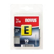 NOVUS, NAGELS (BRADS), E J 19MM , 1000 ST.