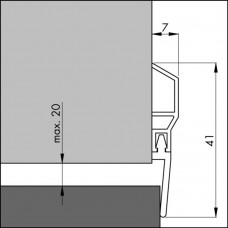 TOCHTPROFIEL/DORPELPROFIEL PDS-WT 100 (BASIC)