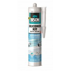 BISON SILICONENKIT ACRYLBADEN WIT CRT 300ML*12 NLFR