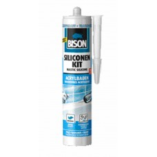 BISON SILICONENKIT ACRYLBADEN TRANSPARANT CRT 300ML*12 NLFR