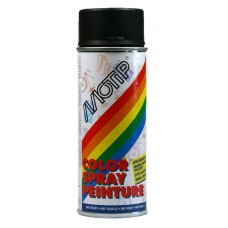 MOTIP COLOURSPRAY MAT RAL9005 DIEP ZWART 400ML