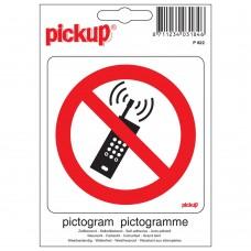 PICTOGRAM 10X10CM VERBODEN VOOR MOB. TELEFOONS