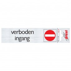 ROUTE ALULOOK 165X44 MM VERBODEN INGANG