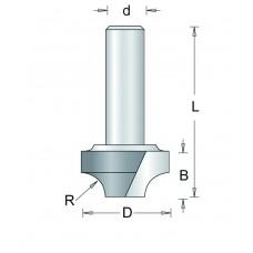 100-8 HM AFRONDFREES KLEIN , D= 9,5, R= 3,2
