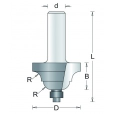 91-8 HM PROFIELFREES , D= 25,4, R= 4