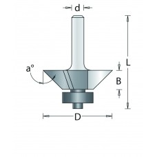 105-8 HM KANTENFREES 7°-45° , D= 22,2, A= 22