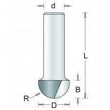 63-6 HM HOLPROFIELFREES , D= 9,5, R= 4,8