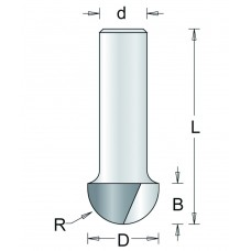 63-8 HM HOLPROFIELFREES , D= 9,5, R= 4,8