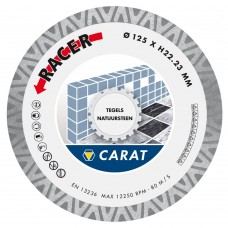 CARAT DIAMANTZAAG TEGELS/NAT.STEEN DIAM. 125X22,23 MM, CDB RACER