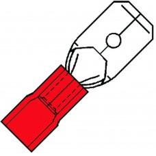 GEISOLEERDE VLAKSTEKER 6,3X0,8MM VOOR 0,5-1,5 MM², PVC SP 1507 H